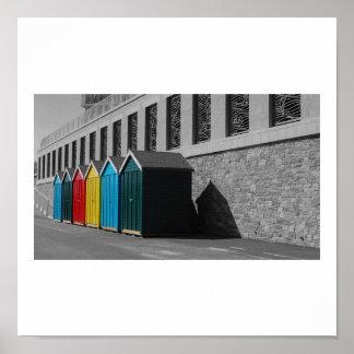 Bournemouth Beach Huts Posters