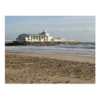 Bournemouth pier in winter postcard