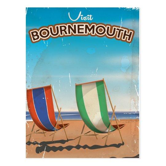 Bournemouth vintage travel poster postcard
