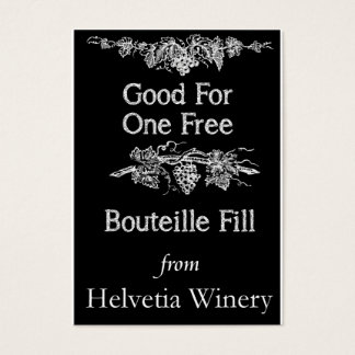 Bouteille Fill Card
