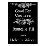 Bouteille Fill Card Large Business Cards (Pack Of 100)