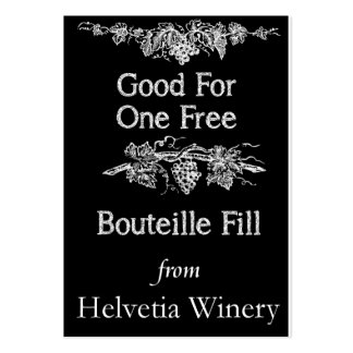 Bouteille Fill Card Pack Of Chubby Business Cards