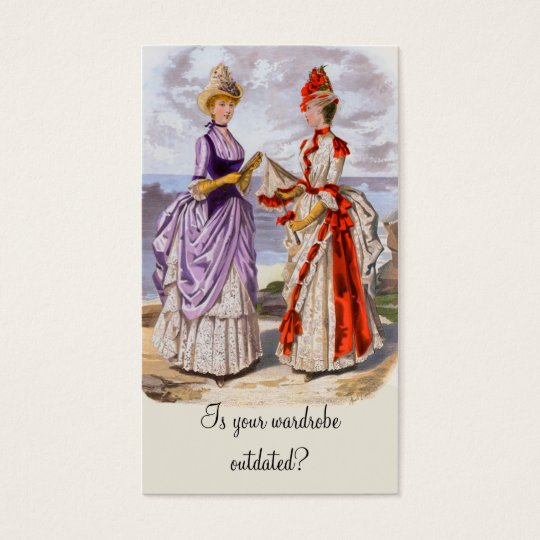 Boutique Business Card with Vintage 1800s Fashions