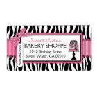 Boutique Chic Cakes Business Shipping Label