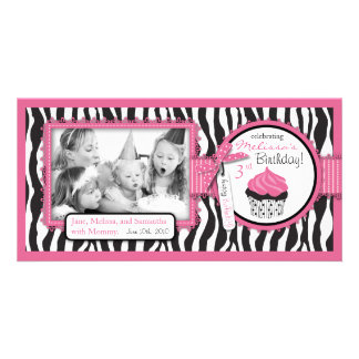 Boutique Chic Cupcake Photo Card