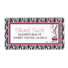Boutique Chic Cupcake Shipping Label