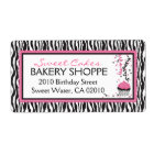 Boutique Chic Cupcakes Business Shipping Label