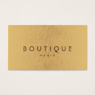 Boutique-Fashion Accessories Gold Linen Card