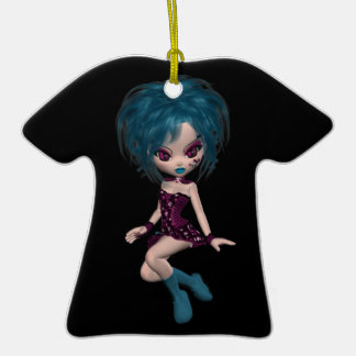 Boutique Gothique Mascot Goth Girl 9 Ceramic T-Shirt Decoration