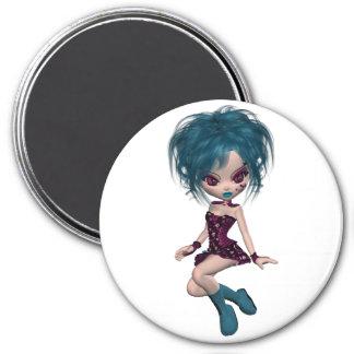 Boutique Gothique Mascot Goth Girl 9 Magnet