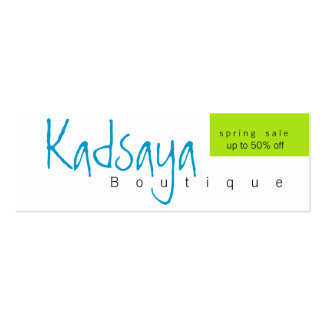 Boutique Kadsaya 9 Promotion Store Business Card