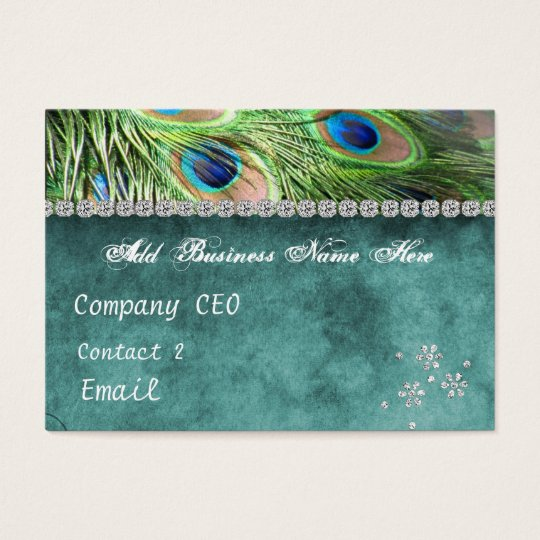 Boutique Peacock Business Card