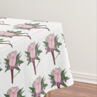 Boutonniere Rose Wedding Prom Flower Tablecloth
