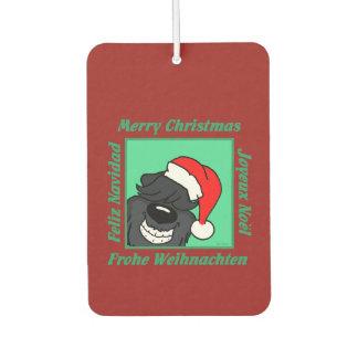 Bouvier Christmas Car Air Freshener