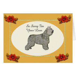 Bouvier des Flandres, Autumn Floral Pet Loss Card