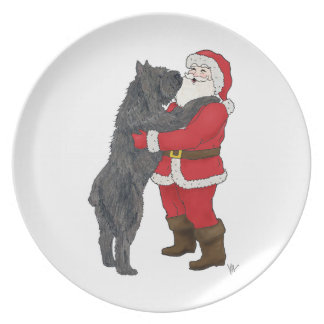 Bouvier des Flandres Christmas Greeting Plate
