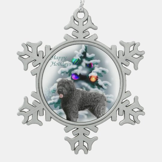 Bouvier des Flandres Christmas Snowflake Pewter Christmas