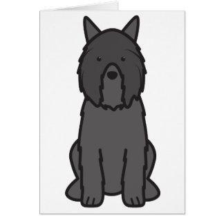 Bouvier des Flandres Dog Cartoon Card