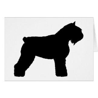 Bouvier des Flandres Dog (in black) Card
