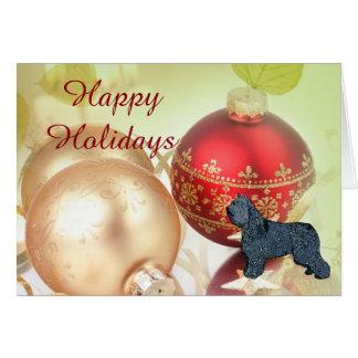 Bouvier des Flandres Happy Holidays Card