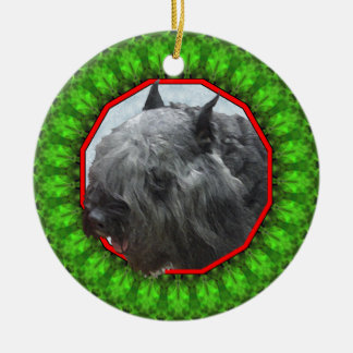 Bouvier des Flandres Happy Howliday Christmas Ornament