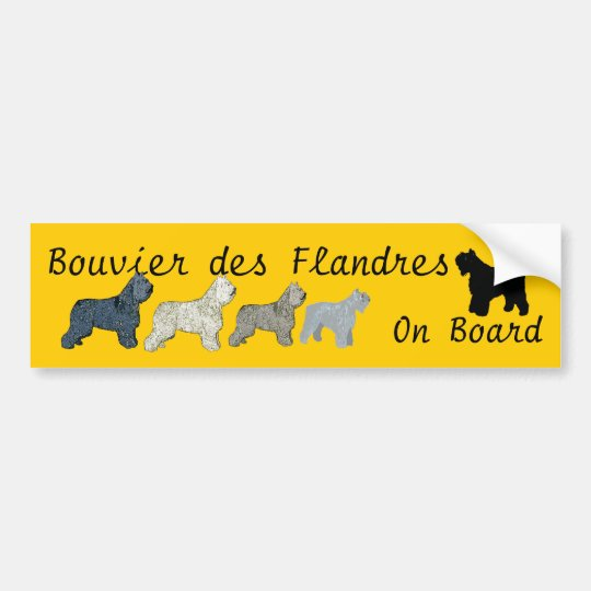 Bouvier des Flandres On Board Bumper Sticker