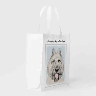 Bouvier des Flandres Reusable Grocery Bag