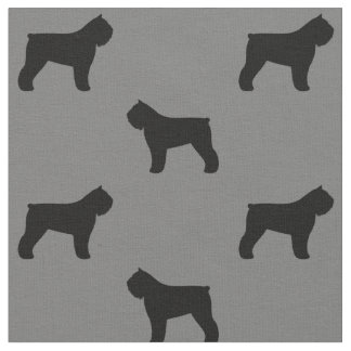 Bouvier des Flandres Silhouettes Pattern Fabric