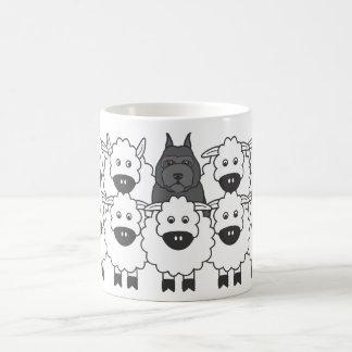 Bouvier in the Sheep Basic White Mug