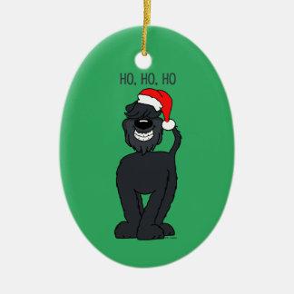 Bouvier Santa Christmas Ornament