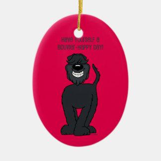 Bouvier Smile Christmas Ornament