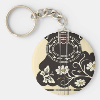 Bouzouki Basic Round Button Key Ring