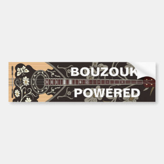 Bouzouki Powered Bumper Sticker