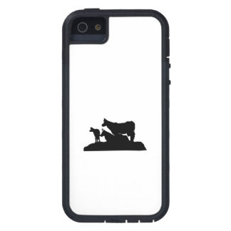 Bovine Family Silhouette iPhone 5 Cover