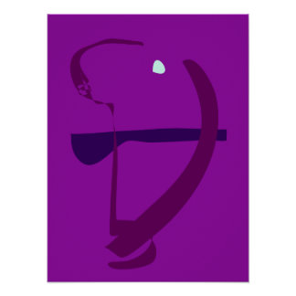 Bow and Arrow Purple Poster