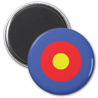 bow and arrow target - aim 6 cm round magnet