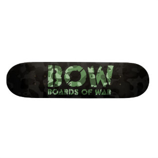 BOW Boards Of War Black and Green Camo Logo Deck Skate Boards