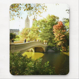 Bow Bridge, Central Park, Late Summer, NYC Mouse Mat