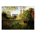 Bow Bridge in Autumn, Central Park, New York City Cards