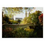 Bow Bridge in Autumn, Central Park, NYC, Small