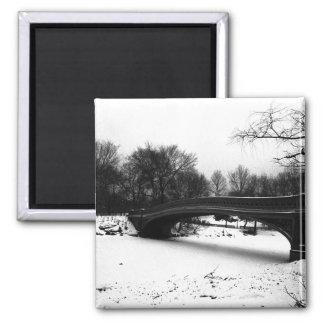 Bow Bridge Winter Central Park NYC Magnet