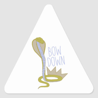 Bow Down Triangle Sticker