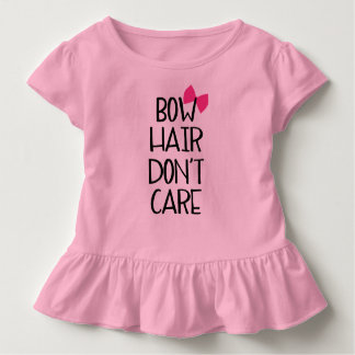 Bow Hair Don't Care - Funny Tee Pink Bow