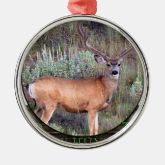 Bow hunter Silver-Colored round decoration