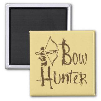 Bow Hunter Square Magnet