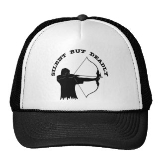 Bow Hunting Archery Silent But Deadly Trucker Hat
