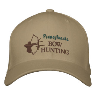 Bow Hunting Custom State by State Embroidered Baseball Cap