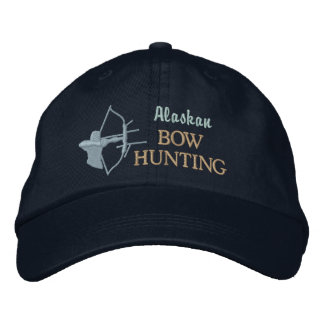 Bow Hunting Custom State by State Embroidered Cap