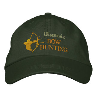 Bow Hunting, State by State Embroidered Baseball Caps