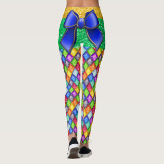 Bow Illusion Diamonds Pop Fashion Leggings